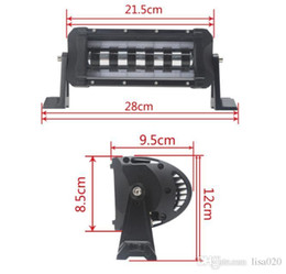 Wholesale 5w Single Led - 30W Unique Halo Ring Single Rows LED Light Bar (5W CREE) ,used ATVs, SUV, truck, Fork lift, trains, boat, bus, and tank