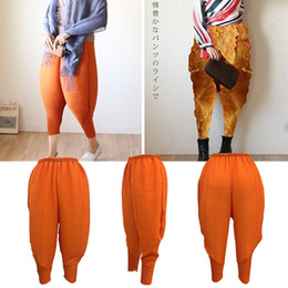 Wholesale Chicken Fries - Fashion New Fried Chicken Pants For Women Ladies Trousers 3 Colors Losse Elastic Capris Plus Size Pants NK001 RF