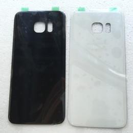 2019 iphone 5c capa da habitação traseira Bateria de vidro Voltar tampa da caixa para borda Samsung Galaxy S7 G935 G935A G935V Com preattached Etiqueta branca preta