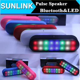 Wholesale Led Light Computer Speakers - 2017 New BT808NL Pill XL Pulse LED Light Flash Portable Bluetooth Speaker Music Wireless Handsfree Support TF Card USB Mp3 Player BT808L