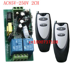 Wholesale Remote Electrical - AC110V 220V 250V 2CH Long Distance Remote Switch,Radio Controller Transmitter & Receiver,electrical switch Power switch