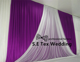 Wholesale Cheap Fabric Curtains - Cheap Price 3M*6M Ice Silk Wedding Backdrop Curtain With White Fabric Drape Decoration Free Shipping