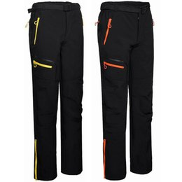Wholesale Gore Tex Hiking Pants - New 2016 Winter Ski Tech Fleece Men's Softshell Waterproof Pants Male Outdoor Sport Windproof Trousers Trekking Sportwear