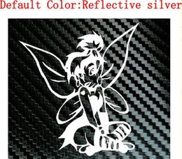 Wholesale Tinkerbell Decal Stickers - Tinkerbell Fairy Punk Car Laptop Truck Girl Decal Vinyl Sticker Car Truck Laptop Boat Decal Vinyl Sticker decal   reflective silver