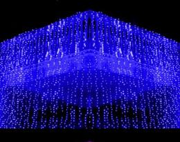 10x1.5M metro Weding 488LED Luces de cortina Holiday leds Christmas Garden Decoration Party Flash Fairy cortina String Light Envío Gratis desde fabricantes