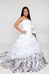 Wholesale Camouflage Dresses Plus Size - Sweetheart Lace Appliques Draped Camo Wedding Dresses Snowfall Real Tree Camouflage Lace Up Back Bridal Gowns Custom Plus Size Vestidos