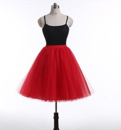 Wholesale Cheap Tutu Tops - Hot Sale Short Tulle Tutu Skirts For Women Mini Length Real Image 7 Layers Custom Made Top Quality Cheap Formal Skirt