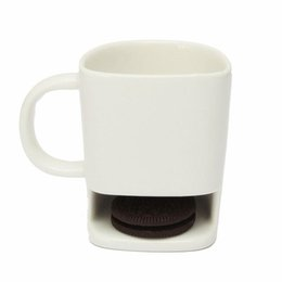 Wholesale Biscuit Pocket - Ceramic Mug Coffee Biscuits Milk Dessert Cup Tea Cups Bottom Storage for Cookie Biscuits Pockets Holder For Home Office