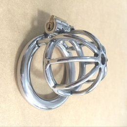 Wholesale sex small china - China Newest design Small Male Bondage Chastity belt Stainless Steel Adult Cock Cage BDSM Sex Toys Chastity Device Short Cage
