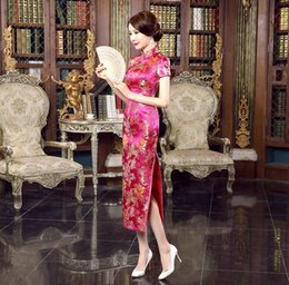 Wholesale Silk Long Cheongsam - Summer clothes new cheongsam fashion improved cheongsam dress Slim sexy elegant dress skirt dress long section