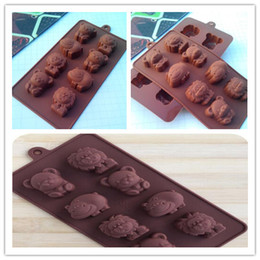 bear shaped chocolate Promo Codes - Hippo Lion Bear Shape Silicone Mold, Jelly, Chocolate, Soap ,Cake Decorating DIY Kitchenware ,Bakeware