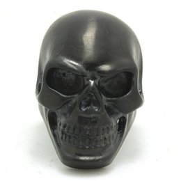 Wholesale Skull Polish - 5pcs lot size 7-15 Black Dull Polish Huge Skull Ring 316L Stainless Steel Fashion Jewelry Cool Black Skull Ring