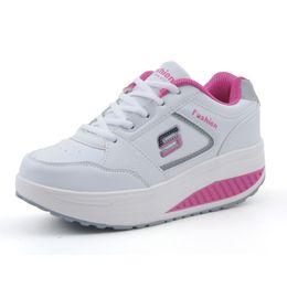 Wholesale Platform Swing - Wholesale-Slimming women running shoes women sneakers Women Platform Fitness Shoes Lady Beauty Swing Fitness shoes A681