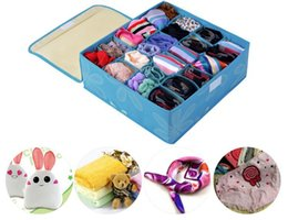 Wholesale Coffee Box Set - Wholesale Non-Woven Pink Blue Red Coffee Orange Underwear Bra Socks Scarf Ties Organizer Storage Bag Boxes 3 Set