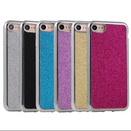 Wholesale Iphone Case Bling Mix - For Iphone 7 7 Plus Luxury Electroplating Soft TPU Glitter Bling Case back cover mix color