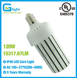 Wholesale White Washed Lamps - 120W LED Corn Cob Bulb Light Replace 400 Watt Metal Halide High Bay Car Wash Church E39 Mogul Base Lamp 6000K