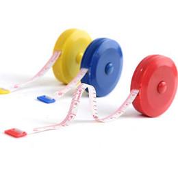 Wholesale Measure Clothes - 10pcs Free shipping Convenient and practical retractable tape measure plastic tape measure clothing feet soft feet