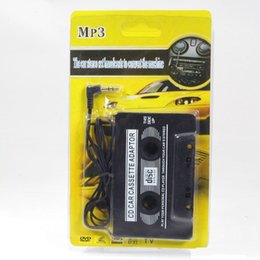 Wholesale Car Converter For Mp3 - Audio Car Cassette Tape Adapter Converter 3.5 MM For Iphone Ipod Nano MP3 AUX CD