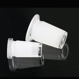 Wholesale Glass Pipes Bongs Wholesale - Bong downpipe reducing adaptor 18.8mm female joint inline 14.5mm for glass water pipe glass bong female jiont