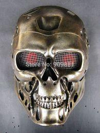 Wholesale Ghost Helmets - Horror COS Terminator Helmet Mask CS Paintball Ghost Creepy Resin Masks Props Halloween Masquerade Party Cosplay Prop
