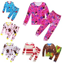 Wholesale Cheap Girls Clothing Sets - moana kids clothing set maui boys pajams baby girl outfits kids sleepwear nightwear homewear wholesale cheap price