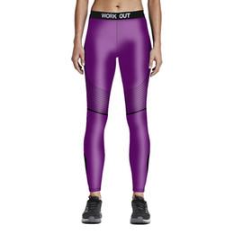 Leggings de color morado online-Venta al por mayor envío gratuito Push-up Leggings Moda Color púrpura Elástico Fitness Leggings Work Out cintura alta ropa para mujeres más el tamaño Calz