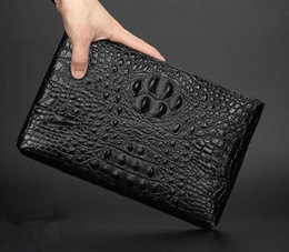 Wholesale Dress High Grade - factory sales of brand new leather crocodile bag men and men hand bag high-grade leather men's business lines ostrich clutch