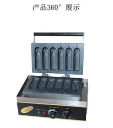 Wholesale Hot Dog Grills - Free Shipping 110V 220V Corn Shape Lolly Waffle Maker 6 PCS Hot Dog Grill