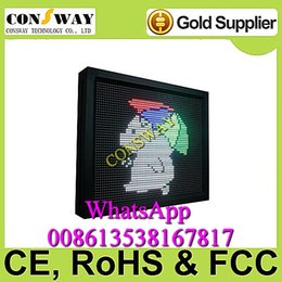 "Wholesale Electronic Advertising - Free shipping and CE approved advertising led electronic board sign with size 28.3""*22"" and RGB color"
