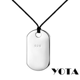 Wholesale Rectangle Pendant Trays - Trency 925 Silver Dog Tag Charm Rectangle 18 cm P001 Mens Army Pendant Tray for Necklace Pendant