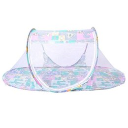 Wholesale Dot Net - Wholesale- Baby Mosquito Net Foldable Ship Type Infant Portable Foldable Mosquito Crib Netting Durable Free