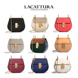 Wholesale Leather Bag Italian - Wholesale- A1301 Summer chain Small Bags For Women Genuine Leather Messenger Bags Ladies Handbags Italian Design Women bag Shoulder Bags