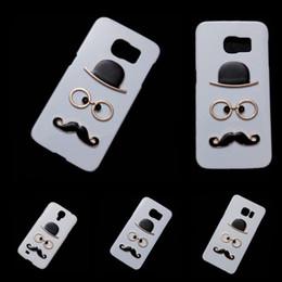Wholesale Cute Case S3 Mini - Cute Case for Samsung Galaxy S3 S4 Mini S5 S6 Edge Plus S7 S7 Edge, Fashion Chaplin Sexy Gentleman Hat Glasses Mustache Back Hard Skin Cover