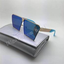 Wholesale Models Sunglass Men - Fashion NEW men designer sunglass korean designer Irresistor 012 model square mirror lens oversized cool shiny style come with oroignal case