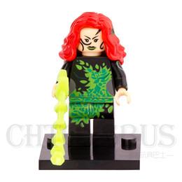 Wholesale poison ivy - WholeSale 20pcs Poison Ivy Pamela Suicide Squad Batman Joker DC Super Heroes Minifig Assemble Building Blocks Kids Learning Toys