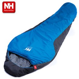 Wholesale Duck Down Sleeping - NatureHike Portable Multifuntional Ultralight Mini nylon mummy shape Outdoor Camping Travel Hiking Sleeping Bag 1100g 2 Colors