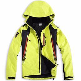 Wholesale Mens Suits Sport Coats - Wholesale-2016 new brand men's winter warm Waterproof 3-layers snowboard windproof Ski Suit outdoor sport jackets coats for mens