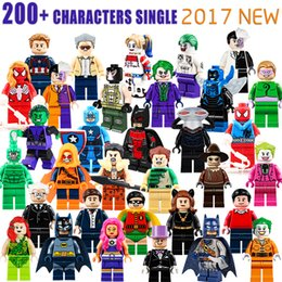 Ladrillos de bloques online-Venta al por mayor 600+ Bloques de construcción Figuras de Superhéroes Juguetes Los Vengadores Juguetes Joker Juguetes mini Figuras de acción Ladrillos minifig regalos de Navidad