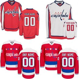 Wholesale capital names - 2016 Customized Men's Washington Capitals custom Any Name Any Number Ice Hockey Jersey,Authentic Jersey Stitched Accept Mix Ord size S-3XL