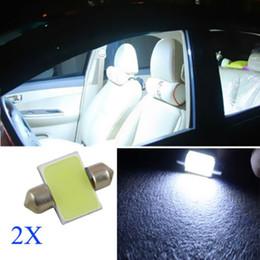 Wholesale Dome Map Interior Light - 2PCS Super White 31mm 12-SMD 12V COB LED Car Interior Dome Map Light Bulbs DE3175 DIY CLT_04K