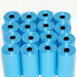 Wholesale Dog Bags Roll - 20 Rolls Pet Poop Bags Dog Cat Waste Pick Up Clean Bag Refill 300 Bags E2shopping