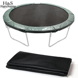 Wholesale Replacement Mat - Wholesale- New Waterproof 12.4' Jumping Mat Round Trampoline Mat for 14' Trampoline Replacement 72 Rings Black Fade-Resistant