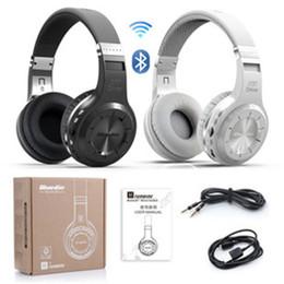 Wholesale Headset Radio For Iphone - Original Bluedio H+(Turbine) Bluetooth Stereo Wireless Headphone Built-in Mic Micro-SD FM Radio BT4.1 Over-ear Headphones