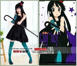 Wholesale Mio Cosplay - Free shipping K-ON! Mio Akiyama dress Cosplay Costume for party dress for gifts Cosplay Anime Vocaloid Dress