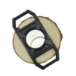 Wholesale Cigar Tube Cutter - Wholesale Product Black Color Plastic Cigar Cutter Cigar Scissors Knife Cigar Accessories Smoking Accessories tube pipe