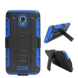 Wholesale Durable Plastic Clips - For Samsung Galaxy Note 8 7 5 4 3 Toughest Durable Defender Robot Hybrid Combo Holster Belt Clip Case with Kickstand Free Shipping