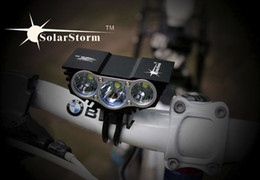 Wholesale Lumen Charger - Lowest Price SolarStorm 6000 Lumen Waterproof XML U2 LED Bicycle Light Bike Light Lamp +Battery Pack+Charger 4 Switch Modes