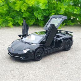 Wholesale Cool Metal Toys - 1 32 Lamborghini Alloy car model The original factory simulation Cool Metal car Model Acousto-optic Toy car A birthday present Novelty toys