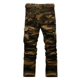 Wholesale Field Pants - New Spring Fashion outdoor leisure men's trousers pants pocket jeans multi field camouflage trousers male Plus size:28-40 with high quality
