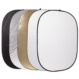 2019 disque pliable Vente en gros-Godox 5 en 1 Conseil d'arrière-plan Pliable 60 * 90 cm Photographie Lumière Diffuseur Rond Réflecteur Disque promotion disque pliable